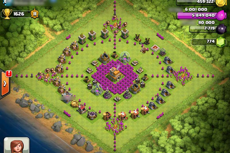 clash of clans funny base designs   gamerizedtv